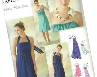 SIMPLICITY PATTERN 0649 ladies cocktail, bridal, prom dress, sizes 12, 14, 16, 18 and 20