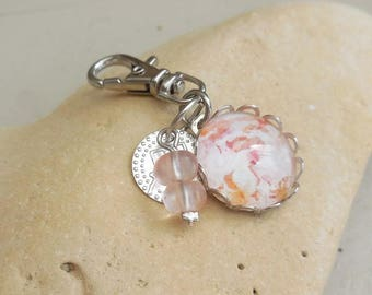 """Bag charm / key """"Shabby chic"""" / Accessories for women / vintage accessories bag"""