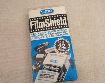 Vintage FilmShield by SIMA, Lead Laminated Pouch Protects Flim Against X-RAY Damage