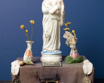 Antique French home altar / shrine. 19th century.