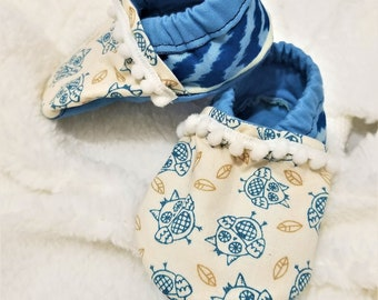 Owl Baby Shoes/Booties-FREE SHIPPING