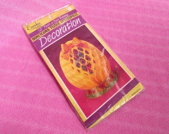 1980s NOS Paper Honeycomb Easter Egg Peek A Boo Bunny Centerpiece Party Decoration