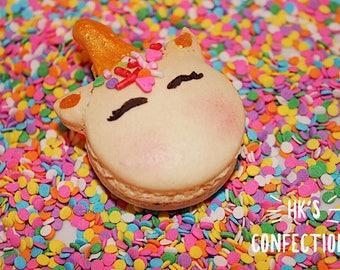 Handmade Unicorn French Macarons One Dozen