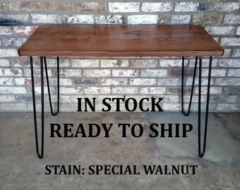 """Desk, 39""""Lx20""""Wx30""""H, Dorm desk, reclaimed wood, hairpin legs, in stock, ready to ship"""