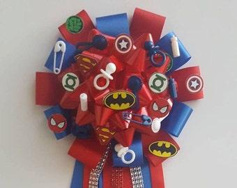 Superhero Baby Shower Corsage