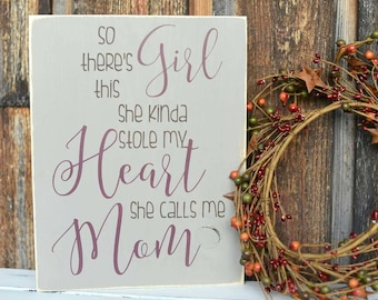 Mother's Day Gift - Gift For Mom - Present For Mom - Gift From Daughter - Mom Wood Sign - Gift For Mom - Mom Sign - Mommy and Me - Wood Sign