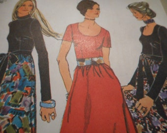 Vintage 1970's Simplicity 9602 Dress and Sash Sewing Pattern Size 14 Bust 36