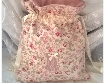 Angela pink lingerie bag