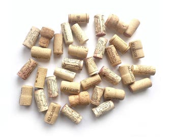 35 Wine Corks, Wine Cork Lot Supply, Used Wine Corks, Crafting Wine Corks,Lot of Thirty-FiveWine Corks, Wine Corks for Crafts, 30 Real Corks