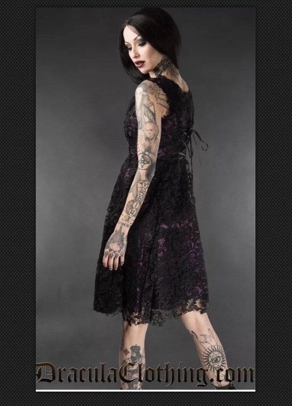 Dracula Clothing Art Deco Dress Purple