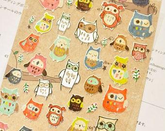 Cute Stickers, OWL Sticker, Funny Sticker, Korean Sticker, Scrapbooking