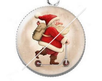 Pendant cabochon resin Merry Christmas happy holidays 5