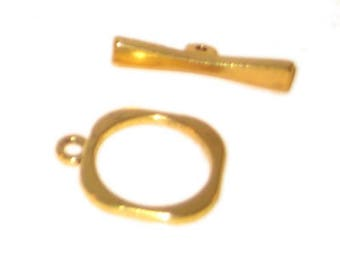 18 x 16mm Gold Toggle Clasp