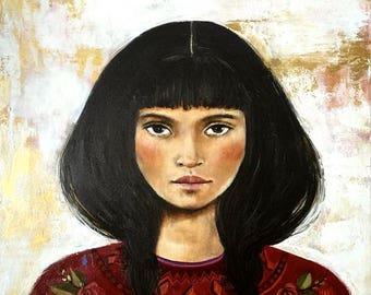 woman portrait art Ramona print