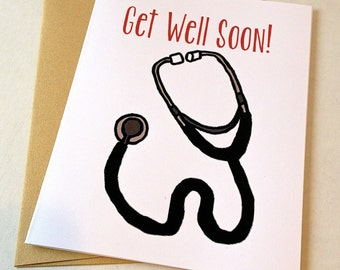Get Well Card - Stethoscope