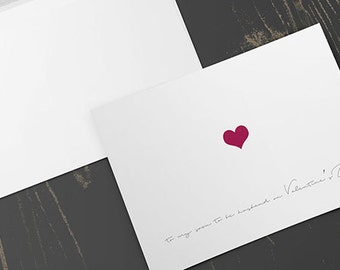 To My Soon To Be Husband Card, valentines day card, greeting card, soon to be husband, blank inside