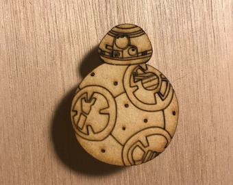 BB8 wood pin