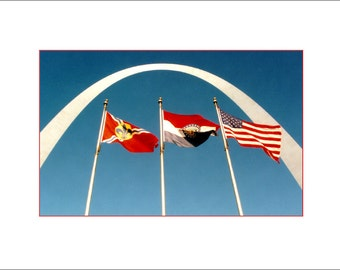 Gateway Arch with Flags