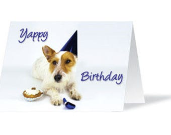 Dog Birthday Card, Dog Lover, Birthday Card, Dog Card, Jack Russell, Card, Dog, Dog Birthday, Cute Card, Pet Card, Jack Russell Terrier