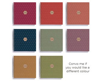 2018 Weekly Planner • SMALL 14cm/5.5in Square • Geometric Choose Your Colour