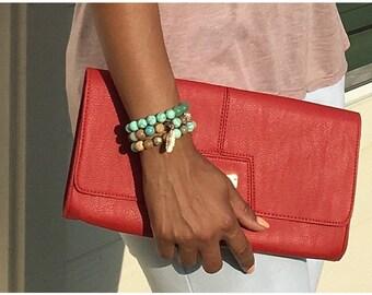 Variety Stone Stackable Bracelets