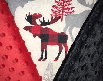 Personalized Moose Blanket