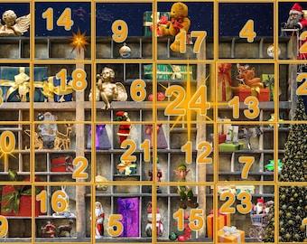 Advent Calendar 2017 Christmas Countdown 25 Days Until Christmas Instant Digital Download Print