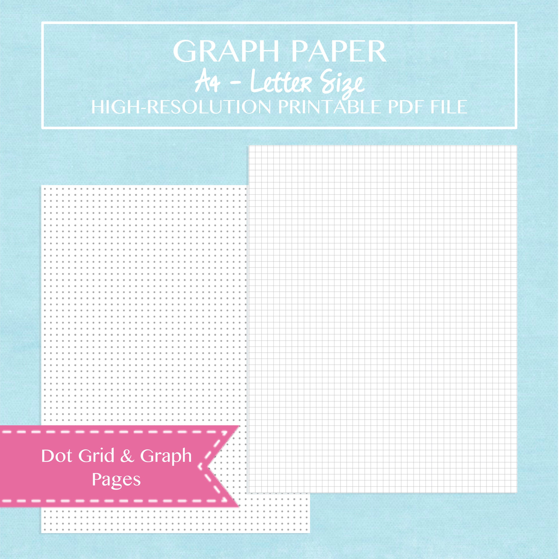 a4 letter size graph paper and dot grid paper pack printable
