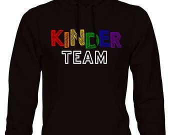 KINDER Team Rainbow Black Pullover Hoodie