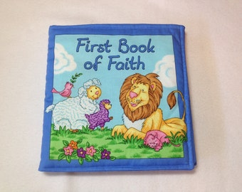First Book of Faith, childrens soft book, baby fabric book, kids toy fabric book, soft book, soft fabric book, book of faith for kids,