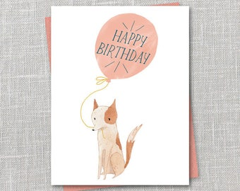 Birthday balloon Notecard Instant Download PDF