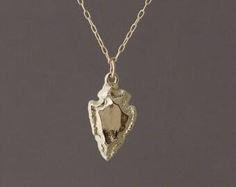 Small Gold Arrowhead Necklace also in Silver