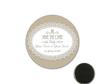 Magnet wedding Save the date - Magnet 25 mm
