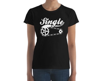 Single Speed life Women's short sleeve t-shirt Bicycling T shirt Fixie Bike Shirt