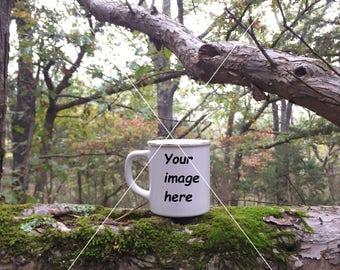Coffee Mug Stock Photography in a Tree
