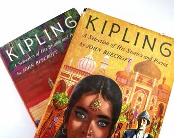 Kipling Vintage Books /  Book Decor / Book Bundle / Home Decor / Instant Library / Kipling / Decorative Books/ Photo Prop / Wedding Decor