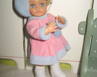 Ice Skater Doll Pink and Blue 6 inches Drinks and Wets