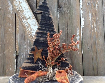 Fall Decor, Primitive halloween decor, Primitive witch, fall primitive, Country primitive, Primitive Fall Decor, primitive hat, OFG Team