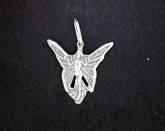 Fairy Pendant in Sterling Silver