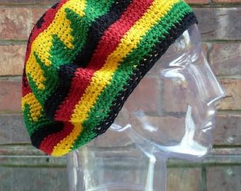 Crochet Rasta Tam Hat.