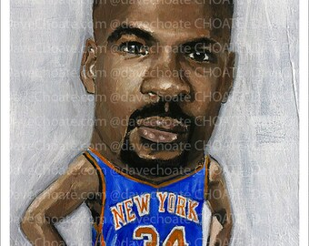 Charles Oakley, New York Knicks Photo print from an original painting