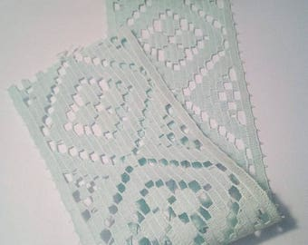 1 m pretty sea green lace trim/Ribbon