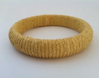 Vintage 1970's Rattan Bangle Bracelet