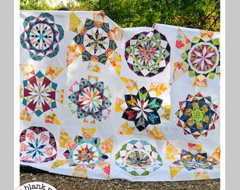 Celestial Star #222 - 24 inch Paper Piecing Quilt Patterns PDF