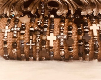 Beaded bracelets  seedbead stackers
