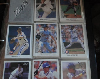 MLB 1990 The Leaf Set 528 cards complete set in binder all mint