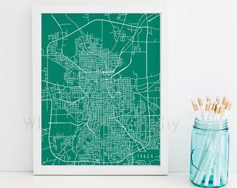 Tyler Map Tyler Art Tyler Map Art Tyler Print Tyler Printable Tyler City Art Tyler City Map Texas Art