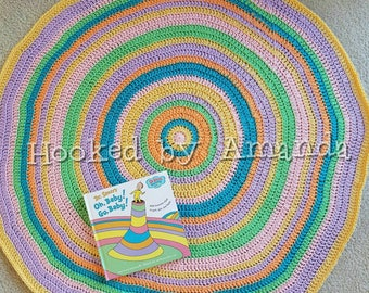 """Dr. Seuss - """"Oh, the Places You'll Go!"""" - baby blanket - baby shower gift - New Baby Present - unique gift - Pastel colors"""