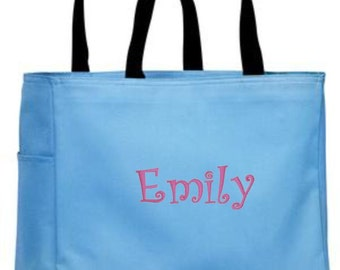 Personalized Tote Bag, Monogrammed Bag, Personalized Totes, Personalized Gift, Bridesmaid Gift, Bridesmaid Tote, Canvas, Embroidery