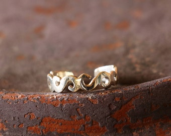 Swirl Sterling Silver Toe Ring, Toe Ring, Adjustable Toe Ring, Simple Toe Ring, Sterling Silver Ring, Sterling Silver Jewellery